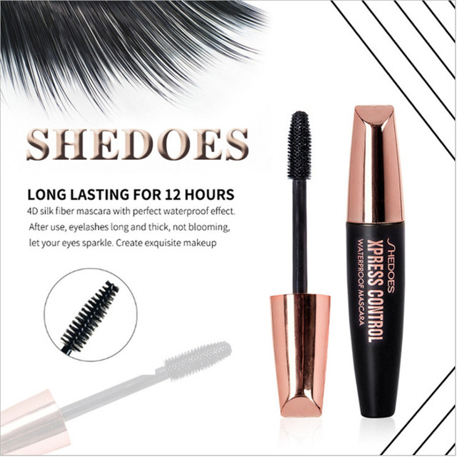 4D Silk Fiber Lash Mascara Waterproof Rimel 3d makeup Mascara For Eyelash Extension Black Thick Lengthening Eye Lashes Cosmetics 4