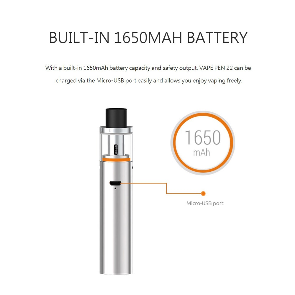 smok vape pen kit with built in 1650mah battery with led indicator  [ 1000 x 1000 Pixel ]