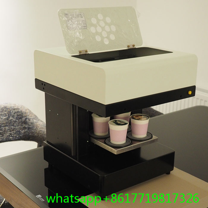 4 cups printing Latte Art Coffee Printer Automatic for Food ,tea ,coffee ,cappuccino ,cookies ,biscuits,pizza printer