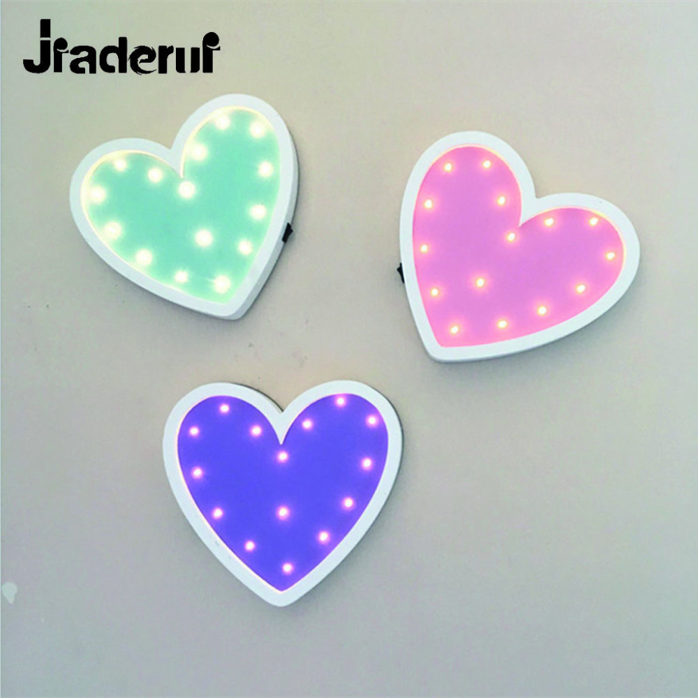 Jiaderui Heart Led Night Light Wooden Table Lamp for Children Gift Bedside Bedroom Living Room Home Decorative Indoor Lighting jiaderui ballon led night lamp wooden table light for kids gift bedside bedroom living room indoor lighting home decoration
