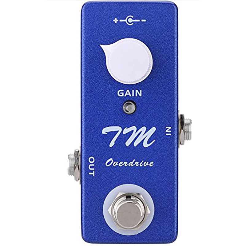 Mosky Mini TM Overdrive Pedal Electric Guitar Effect Pedal With True Bypass Switching Guitar Accessories overdrive guitar effect pedal true bypass with 1590b green case electric guitar stompbox pedals od1 kits