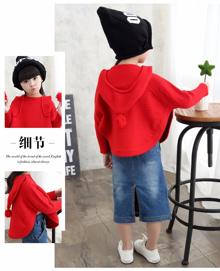 child hooded knitted sweaters 9