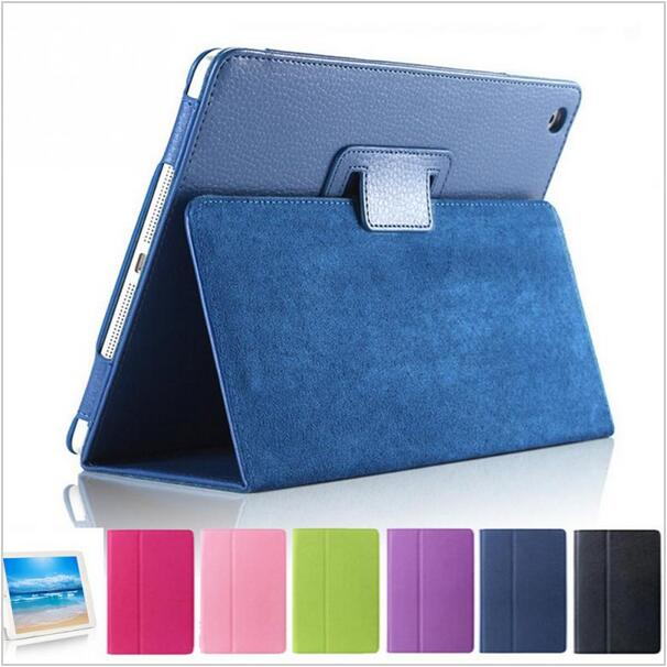 Protective Cover for iPad mini 4 Case Flip Litchi Pattern Leather Cover for iPad mini 4
