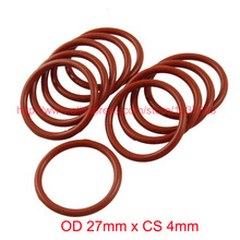 OD 27mm x CS 4mm Silicone O Ring Seal Sealing Washers