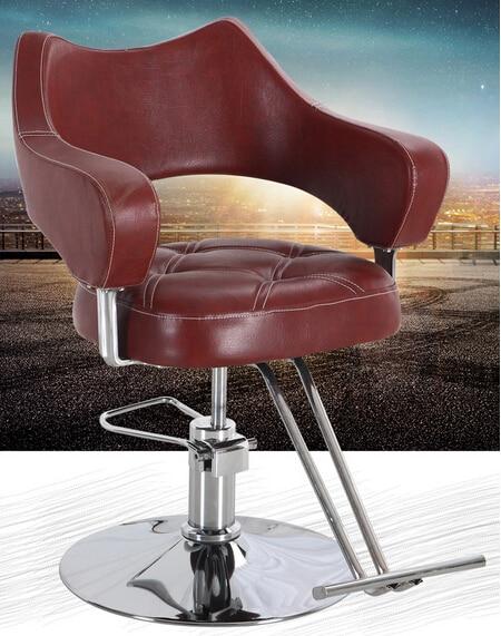 Hair salon, hairdresser. Barber chair. Absalom high-grade hydraulic lifting stool haircut.