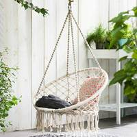 KiWarm Round Hammock Outdoor Indoor Dormitory Bedroom Children Swing Bed Kids Adult Swinging Hanging Single Chair