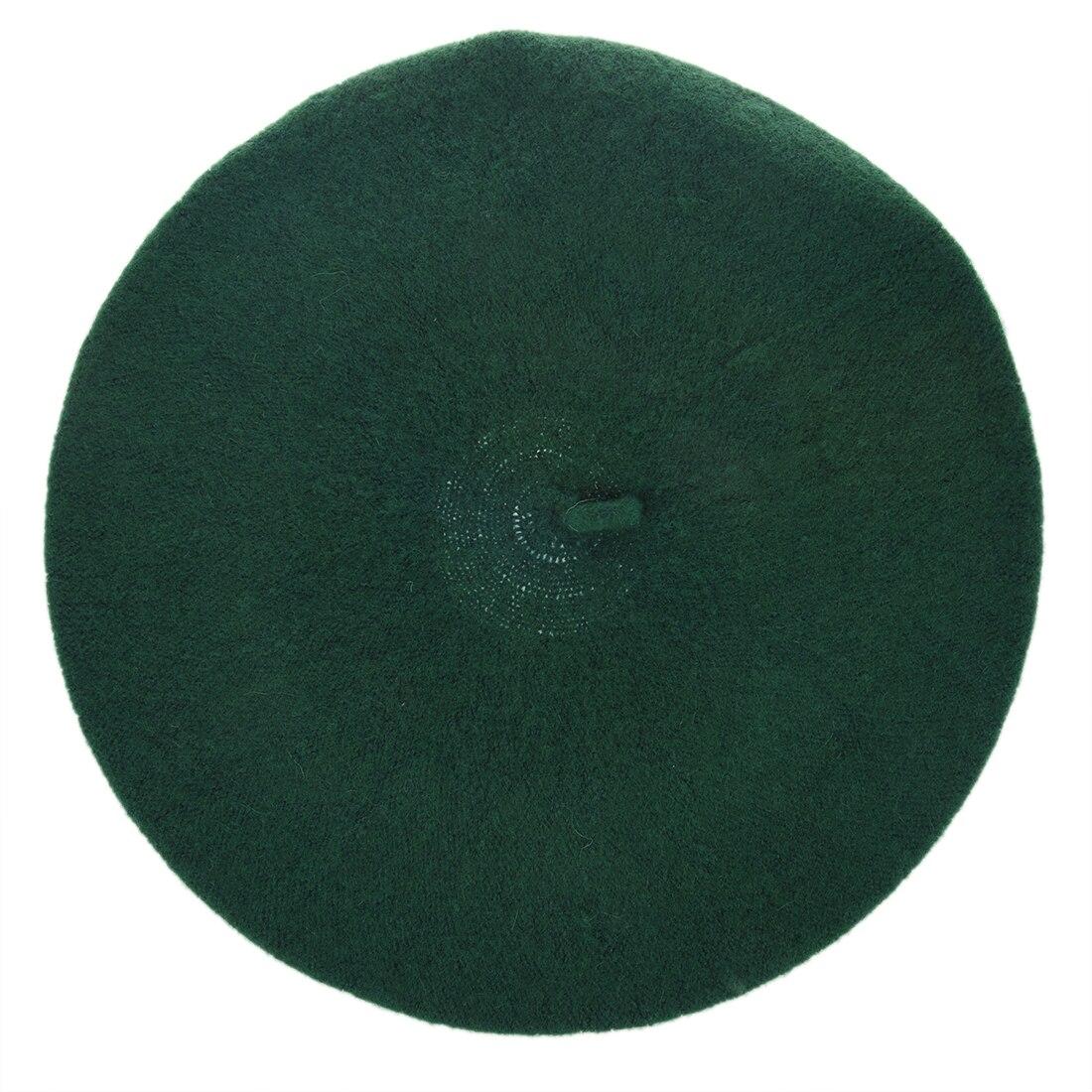 0a2cbd04 Women's Fashion Casual Beret Beanie Hat dark green-in Women's Berets ...