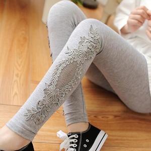 Image 1 - XS 7XL Leggings Women Cotton Lace Decoration Leggings 2020 Leggins Plus Size Long Leggings Size 7XL 4XL 3XL XXL XL L M S 6XL 5XL