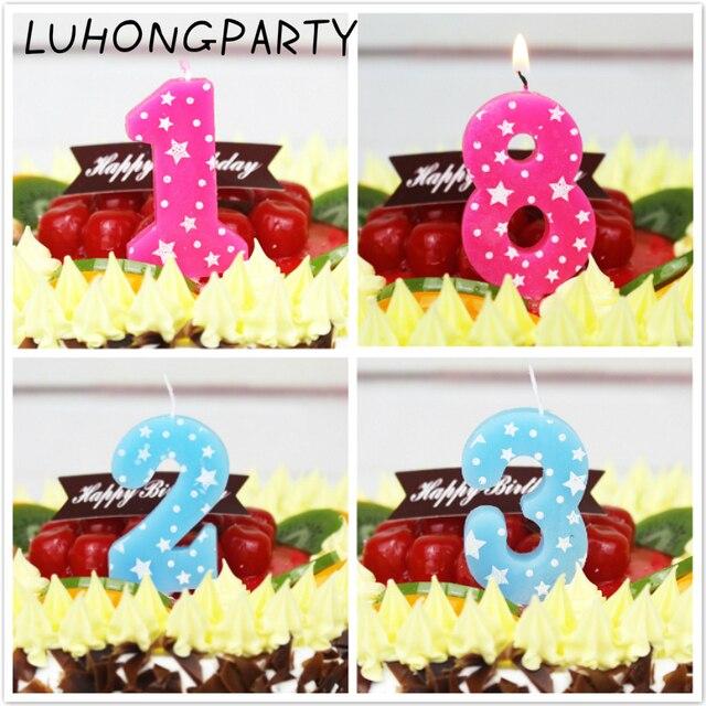 1 Stucke Jungen Madchen Blau Rosa Geburtstag Zahlen Kerzen Kuchen