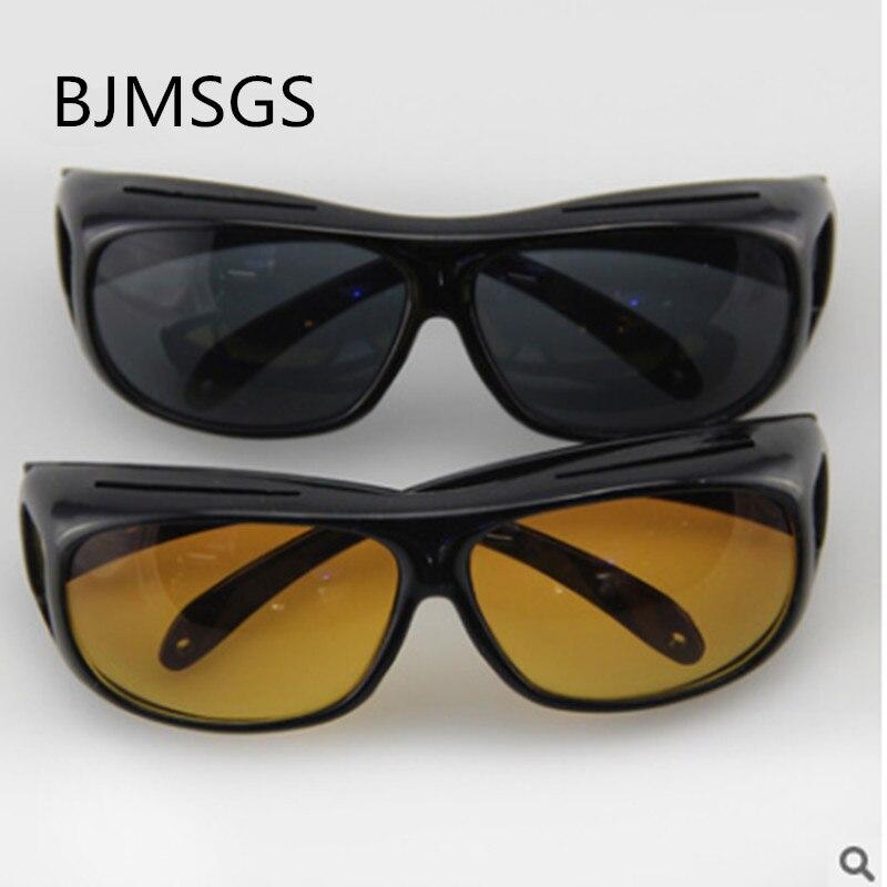 7c0e89816c9 Dropshipping HD Night Vision Sunglasses Yellow Black Multi-function Night  Driving Glasses Men UV Protection
