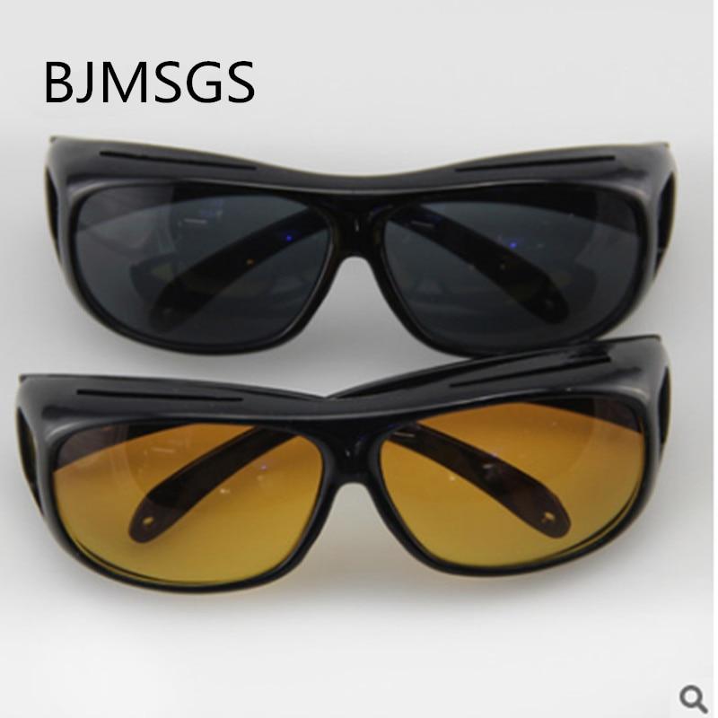 2ee00f6c52d Dropshipping HD Night Vision Sunglasses Yellow Black Multi-function Night  Driving Glasses Men UV Protection
