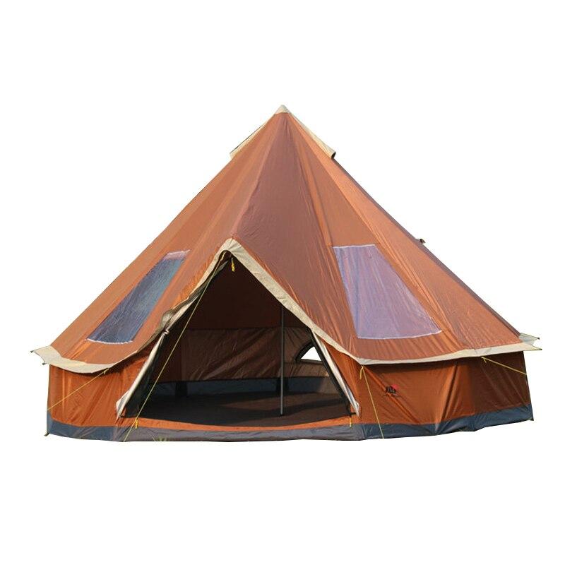 Tente de yourte de mongolie de taille familiale Ultralarge 5-8 personnes pour le voyage randonnée imperméable tente d'abri-soleil Camping en plein air tentes d'hiver