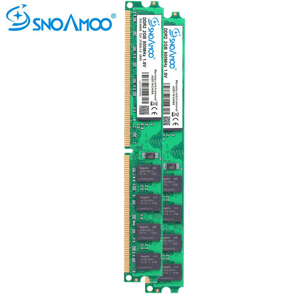 SNOAMOO Desktop PC RAMs DDR2 2GB 667MHz PC2-5300s 1G 800MHz PC2-6400S DIMM 240-Pin 1.8V Stick Computer Memory Lifelong Warranty