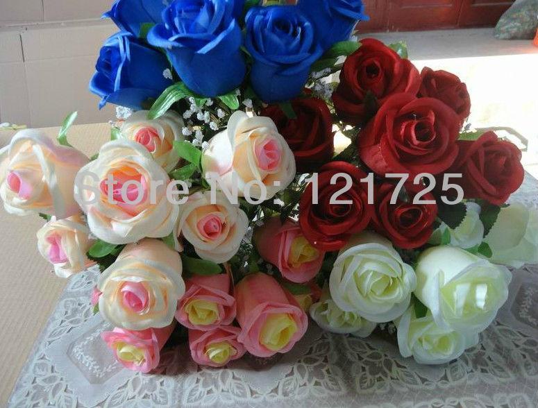 DIY Hand Bouquets Silk Flower Artificial Flowers Bouquet