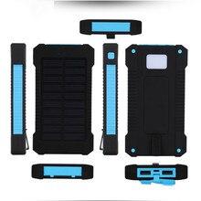 Солнечный Мощность Bank Dual USB путешествия Мощность Bank 20000 мАч внешний Батарея Зарядное устройство чехол Портативный наружный пакет для Xiaomi Mobile телефон