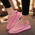 2016 Nueva Verano Mujer Zapatos Planos Ocasionales Cómodos Con Cordones Pisos Señoras Mujeres Zapatos Respirables Al Aire Libre Rosa Púrpura Tamaño 35-40