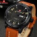 Лучший Бренд Роскошных Мужчин Спортивные Часы Кожа Кварц Дата Часы Моды Случайные Водонепроницаемый Военный Наручные Часы Мужчины Relogio