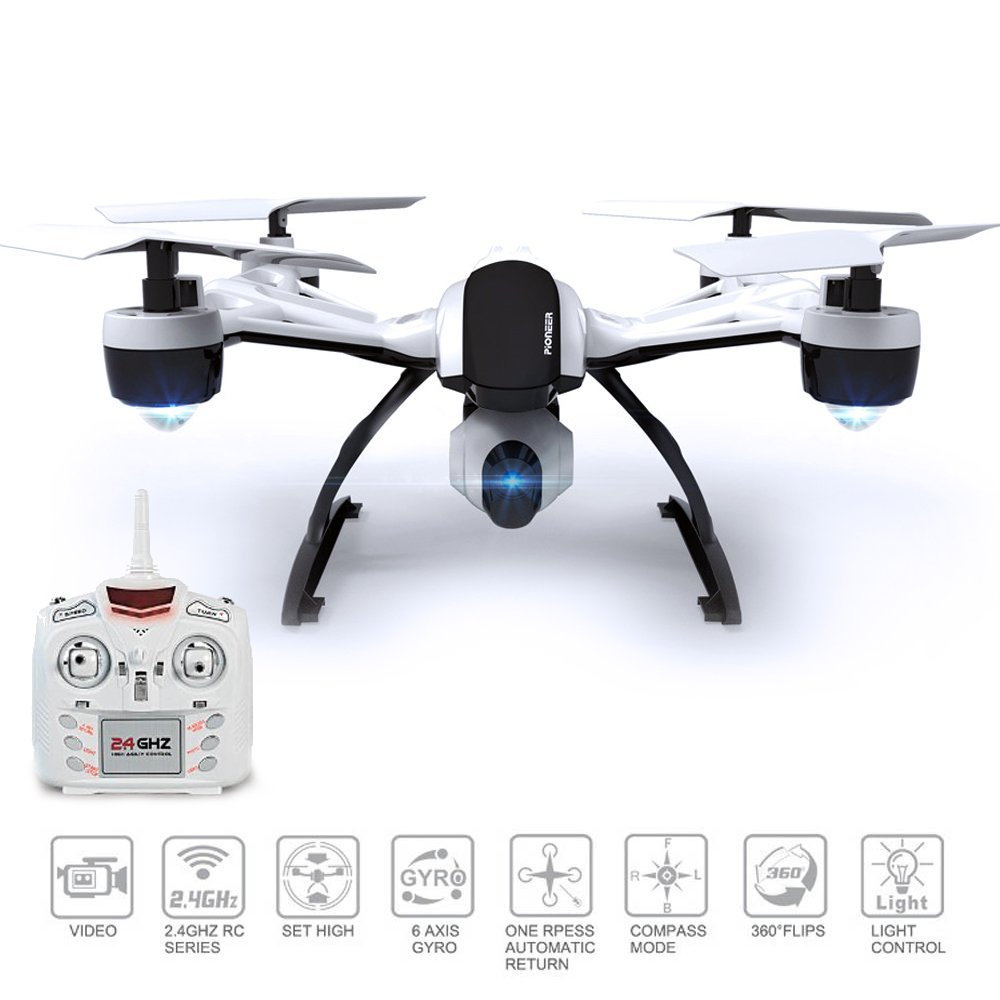 JXD 509V 2.4G 4CH 6-Axis Gyro High Hold Mode RC Quadcopter with 0.3MP Camera 360 Degree Flips CF Mode One Key Return RTF
