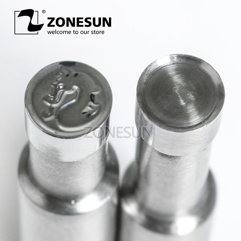 ZONESUN Dragon shape Table Press 3D Punch Mold Candy Milk Punching Die Custom Logo For punch die TDP0/1.5/3 Machine Free shiping siku трактор john deere с пресс подборщиком
