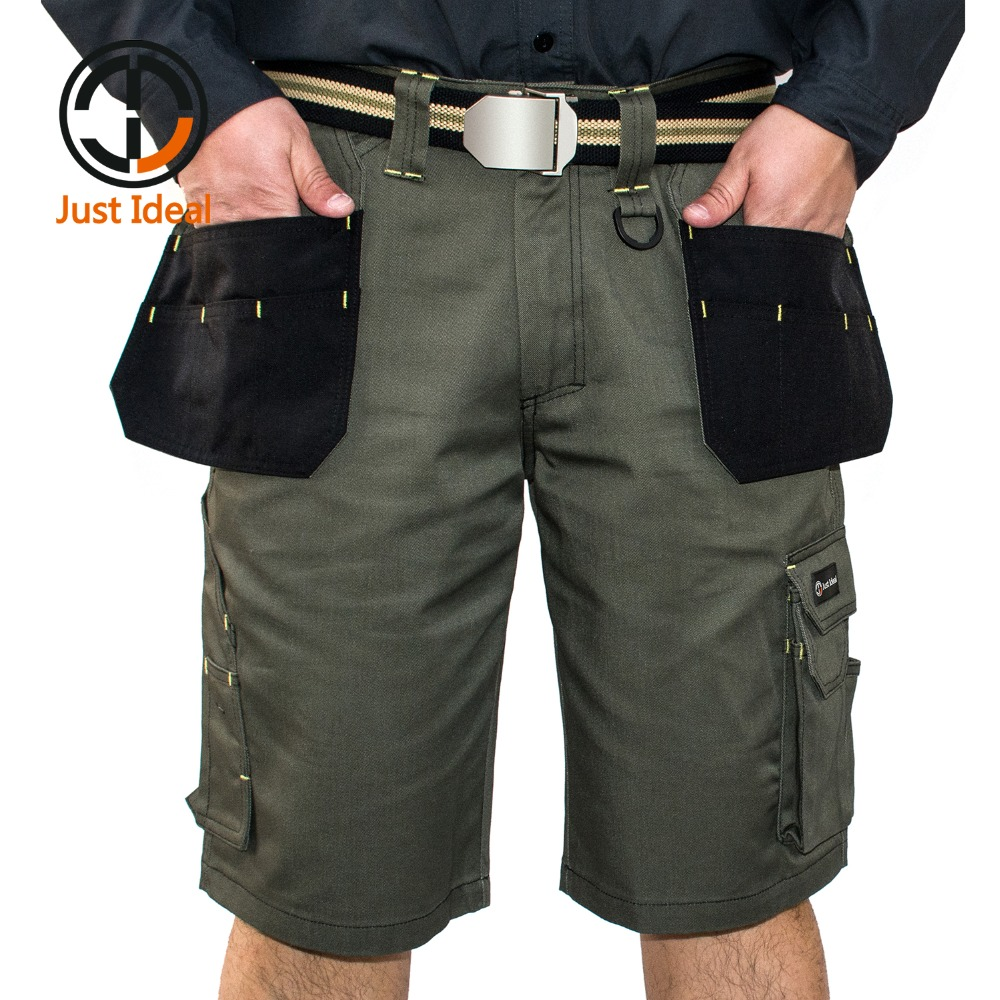 New Design Multiple Pockets Working Shorts Mens Cargo Casual Shorts Loose Fit Military Style Soldier Short