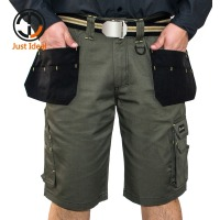 New Design Multiple Pockets Working Shorts Mens Cargo Casual Shorts Loose Fit Military Style Soldier Short Khaki Olive ID601