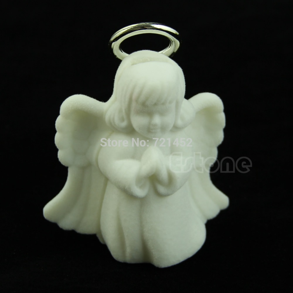 New Luxury Angel Velvet Jewelry Necklace Display Box Gift Container Case
