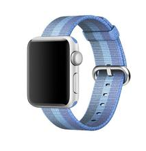 Newest Woven Nylon strap band for apple Series 3 2 1 38 mm 42mm