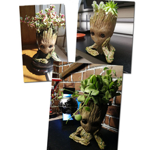 Baby Flowerpot Guardians of The Galaxy Avengers tree man Hero Action Figures Model Toy Pen Pot Planter Flower Pot Gifts 14cm