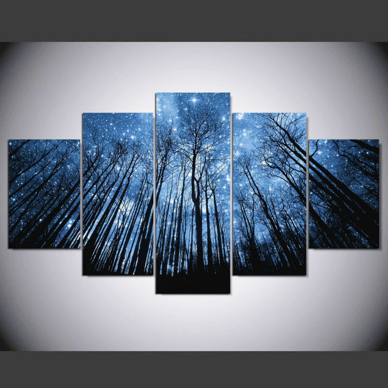 Canvas Art Print for Home Decor Starry Sky Wall Art Canvas Painting Print Poster