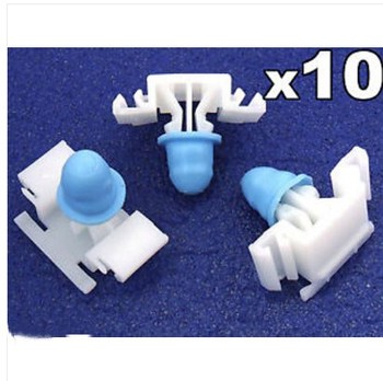 10x For BMW E36 Exterior Side Moulding / Door Bumpstrip Fastener Clips - inc M-Tech image