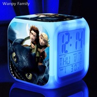 2016 NEW How To Train Your Dragon Alarm Clocks Display Glowing LED Color Change Digital Alarm