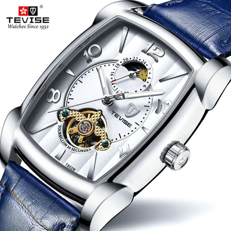 Hot 2019 TEVISE Brand Men Mechanical Watch Top Fashion luxury Automatic Genuine Leather Sport Watches Relogio MasculinoHot 2019 TEVISE Brand Men Mechanical Watch Top Fashion luxury Automatic Genuine Leather Sport Watches Relogio Masculino