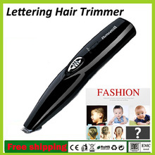 New Brand REWELL Electric Rechargeable Lettering Hair Trimmer Children Stainless Steel Head Lettering Carving Hair Clipper