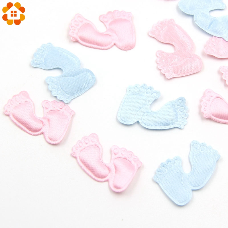 100PCS/Lot DIY Pink&Blue Confetti Cute Baby Feet Confetti For Home Kids Birthday Party Table Decoration Baby Shower Supplies ...