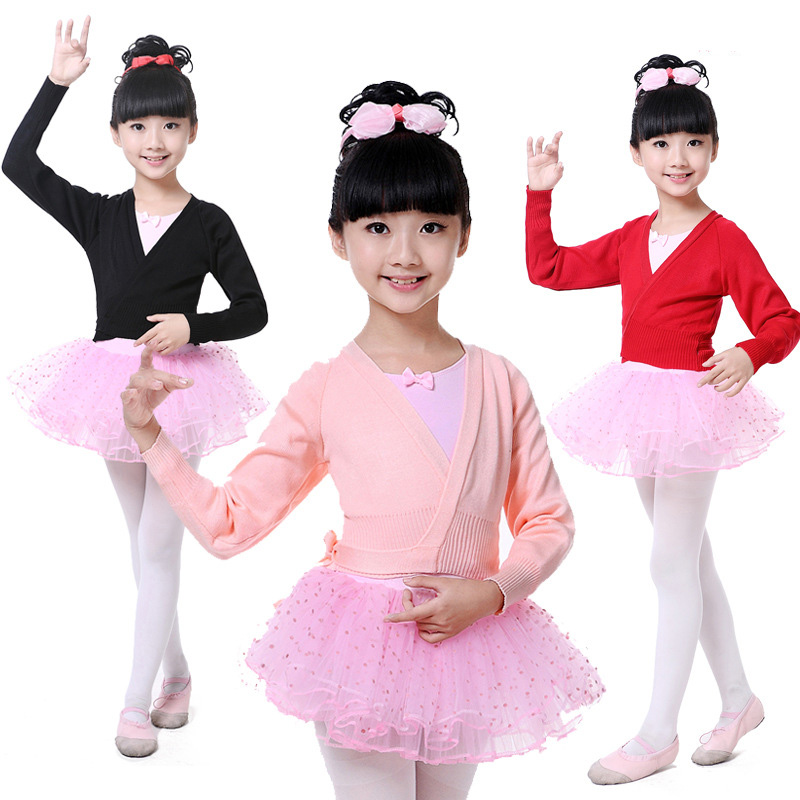 9fe99dee4 Detail Feedback Questions about Girl Winter Gymnastics Ballet Shirt jacket  Wrap Blouse Knit Coat Sweater Cardigan Dance Costume for Kid Dancing  Clothes ...