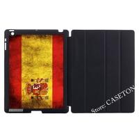 Espanha bandeira Do Vintage Caso Capa Para iPad Mini Da Apple 1 2 3 4 Air 9.7 10.5 2016 Pro Novo 2017 a1822