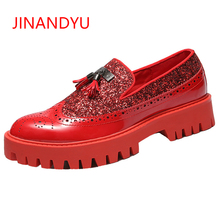 Elevator Shoes JINANYU Brand Mens Shiny Patent Leather for Men Banquet Dress Thick Bottom Platform Nightclub Party
