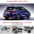 Car Parking Sensors + Rear View Camera = 2 in 1 Visual / BIBI Alarm Parking System For Nissan Tiida / Livina / Pulsar
