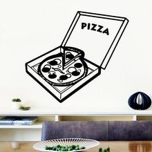 Creative Pizza Home Decor Vinyl Wall Stickers for Living Room Company School Office Decoration Art Mural adesivi murali