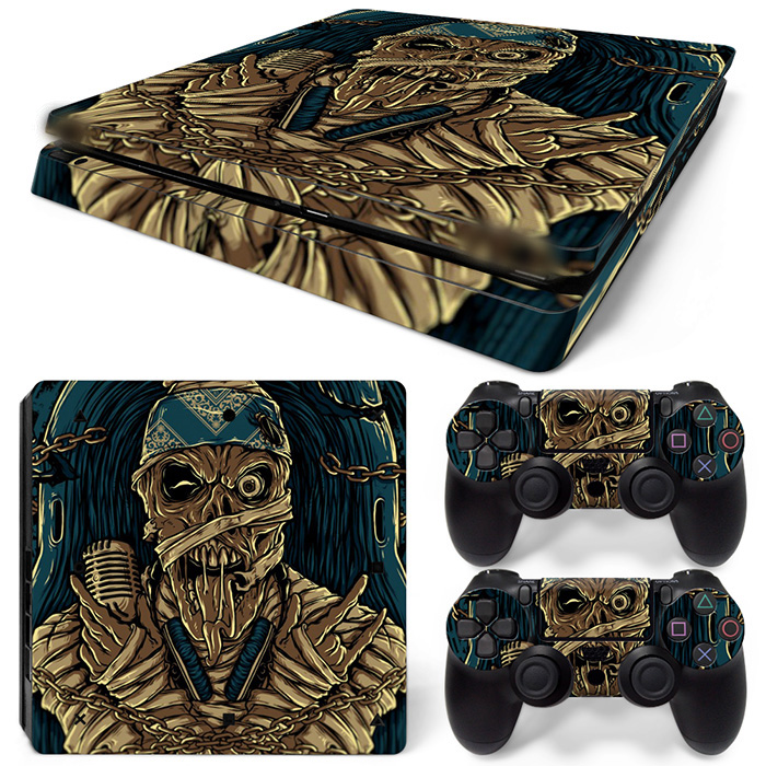 Free Drop Shipping Special Design Vinyl Decal for Vinyl Decal Skin Stickers for PS4 Slim Playstaion 2 Controllers -Dead vocal