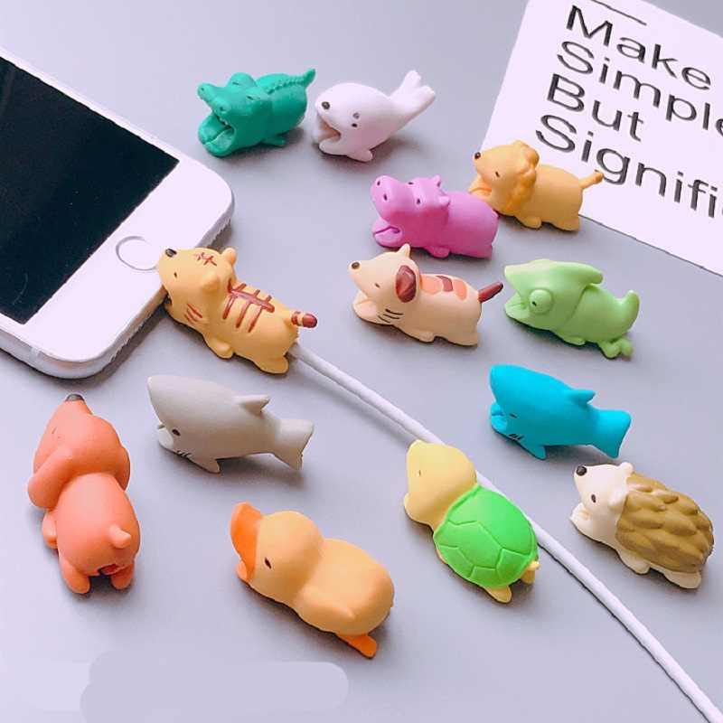 Karikatür Koruyucu Kablo Kılıf iPhone 7 8 Artı X XS Max XR 7 8 Artı 6 6 S 5 5 S 5 S Kapak Için Huawei P20 P30 Lite Pro Aksesuarları