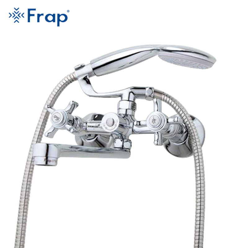FRAP Traditional bathroom faucets 300mm long water outlet tube move 90 degrees left and right banheiro torneiras F2225 F2224 смеситель для ванной frap f2225
