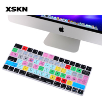 XSKN For Adobe Premiere Pro CC Keyboard Skin For Apple Magic Keyboard MLA22LL A Functional Shortcut