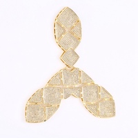 Trendy Jewelry Findings Micro Pave Zircon Connectors Charms For Pearl Necklace Jewelry Making DIY Handmade Accessories
