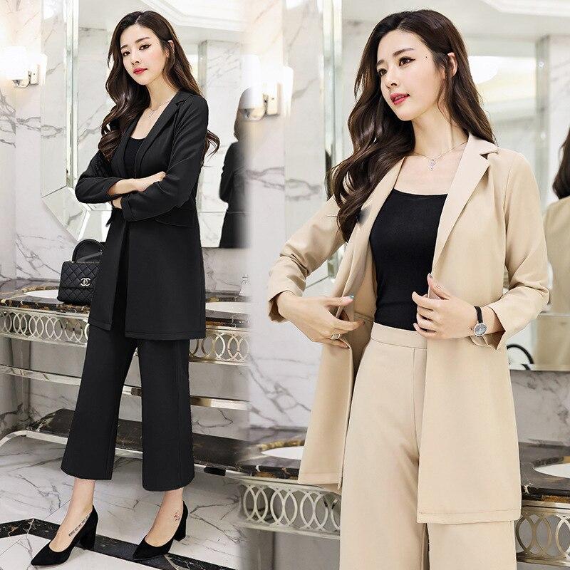 Noir Pantalon Noir Costume Femme Femme Costume Long Pantalon Long qSGzVUMp