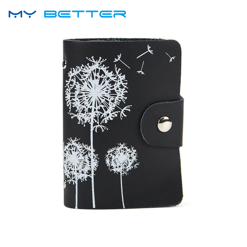 Fashion Leather Print Credit Card Bag Holder Women Travel Cards Wallet 26 Card Slot Business ID Card Holders fashion credit card holder men women travel cards wallet pu leather buckle business id card holders 99 bs88