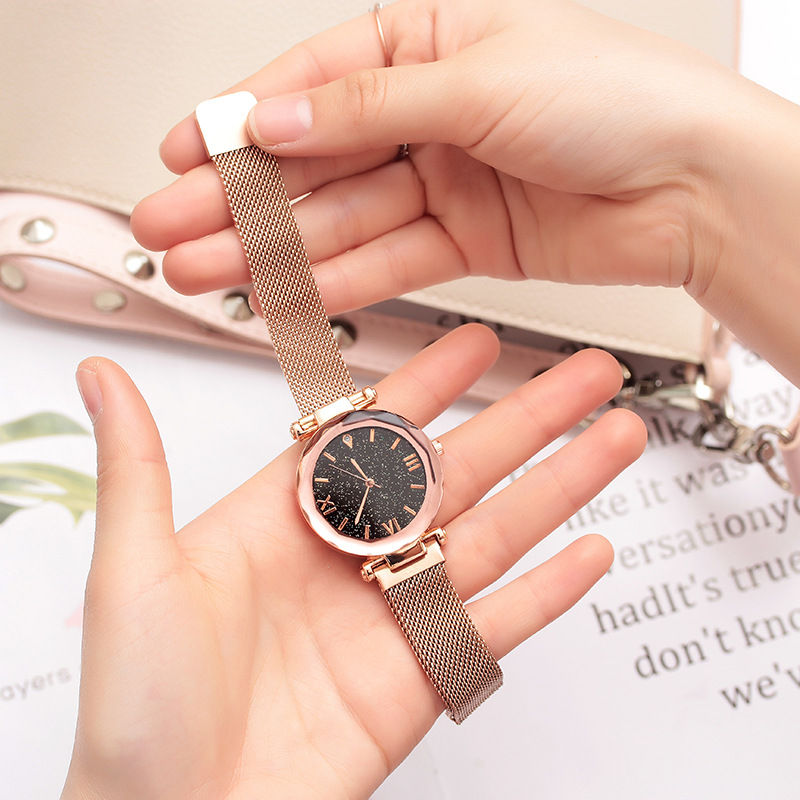 Children Watches Hours Gift For Girls Luxury Starry Sky Quartz WristWatch Kids Fashion Magnet Strap Wrist Watch Relogio Infantil
