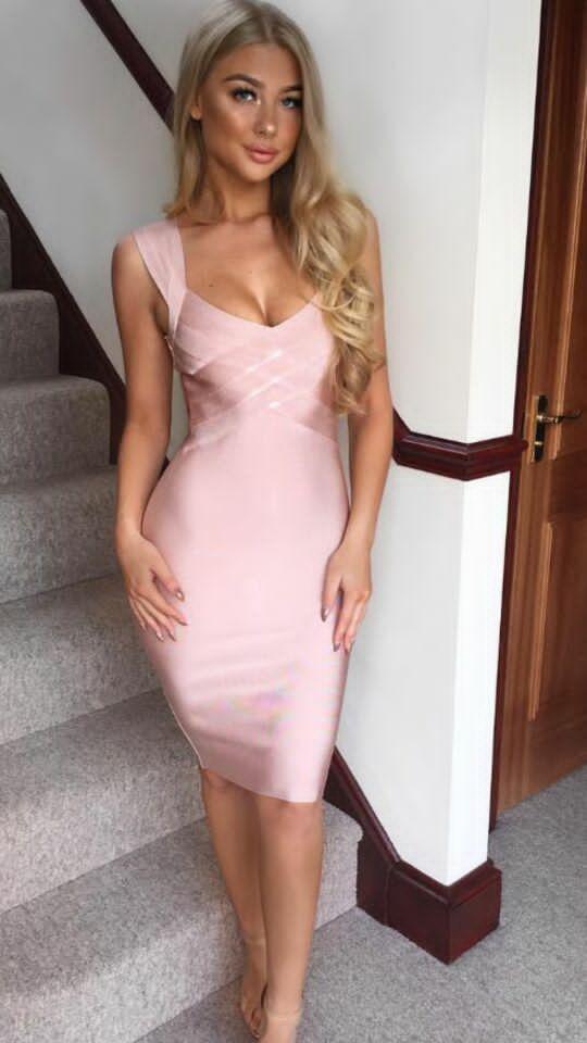 Haute qualité célébrité kaki jaune rayonne Bandage robe mode retour robe de soirée