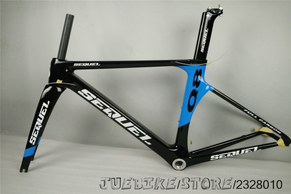 SEQUEL brand Q8 blue road bike frame carbon bike road frame T800 factory selling high quality BSA/BB30 UD race bike  factory high quality carbon montain bike 29er 27er mtb bike china bike frame bsa bb30 ud t800 carbon cycling