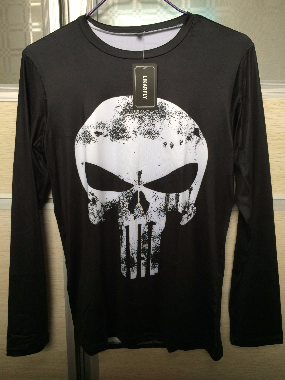 Punisher 3D Printed T-shirts Men Compression Shirts Long Sleeve Cosplay Costume crossfit fitness Clothing Tops Male Black Friday 31